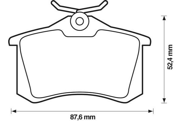 Klocki hamulcowe - komplet JURID (571906D)