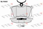 Klocki hamulcowe - komplet FTE BL1194A3 FTE BL1194A3