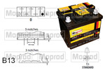 Akumulator QUINTON HAZELL MBT017 QUINTON HAZELL MBT017
