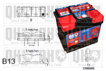 Akumulator QUINTON HAZELL QBT0635 QUINTON HAZELL QBT0635