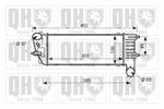 Chłodnica powietrza doładowującego - intercooler QUINTON HAZELL QIC112 QUINTON HAZELL QIC112