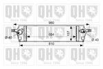 Chłodnica powietrza doładowującego - intercooler QUINTON HAZELL QIC149 QUINTON HAZELL QIC149