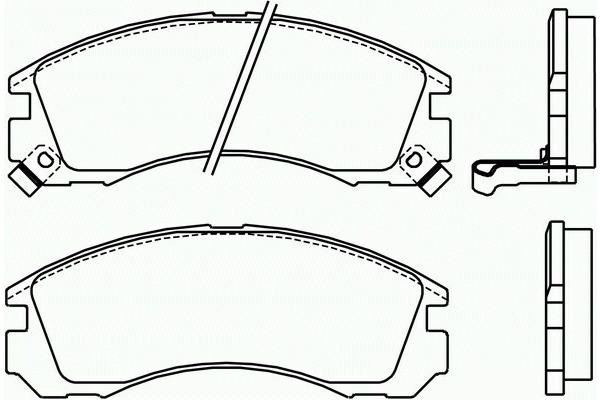 Klocki hamulcowe - komplet BREMBO (P54017)
