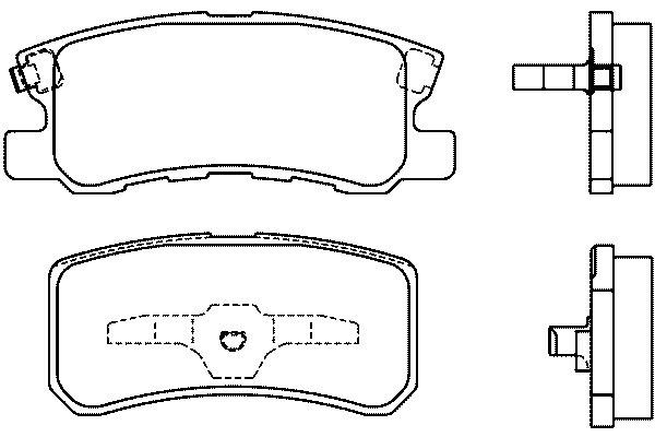 Klocki hamulcowe - komplet BREMBO (P54031)
