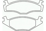 Klocki hamulcowe - komplet BREMBO P85005