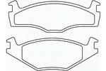 Klocki hamulcowe - komplet BREMBO P 85 012 BREMBO P85012