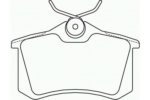 Klocki hamulcowe - komplet BREMBO (P85017)