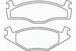 Klocki hamulcowe - komplet BREMBO P 85 024 BREMBO P85024