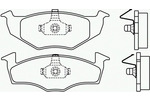 Klocki hamulcowe - komplet BREMBO P 85 025 BREMBO P85025