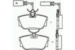 Klocki hamulcowe - komplet BREMBO P85046