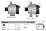 Alternator DENSO  DAN1336-Foto 3