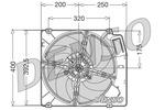 Wentylator chłodnicy silnika DENSO DER01003