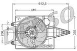 Wentylator chłodnicy silnika DENSO DER01004