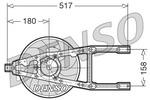 Wentylator chłodnicy silnika DENSO DER09012