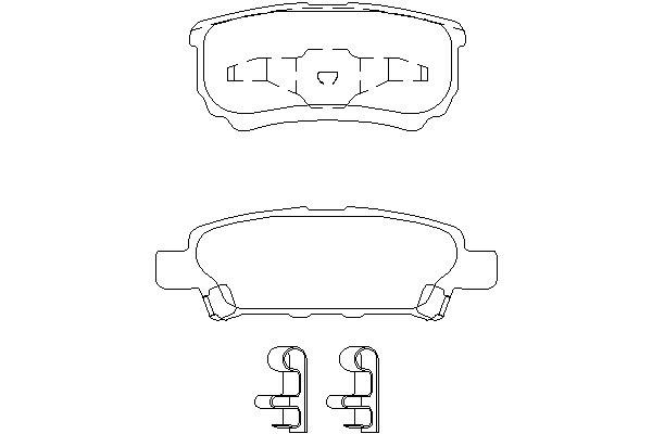 Klocki hamulcowe - komplet MINTEX (MDB2612)