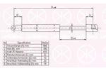 Sprężyna gazowa pokrywy komory silnika KLOKKERHOLM 00122800 KLOKKERHOLM  00122800