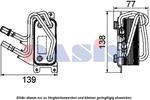 Chłodnica oleju silnikowego AKS DASIS 056014N AKS DASIS 056014N