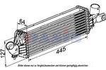 Chłodnica powietrza doładowującego - intercooler AKS DASIS 077004N