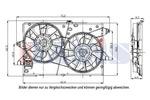 Wentylator chłodnicy silnika AKS DASIS 098114N