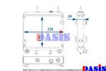 Chłodnica oleju silnikowego AKS DASIS 136140N AKS DASIS 136140N