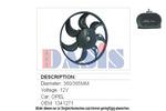 Wentylator chłodnicy silnika AKS DASIS 158250N