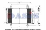 Chłodnica klimatyzacji - skraplacz AKS DASIS 322018N