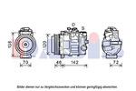Kompresor klimatyzacji AKS DASIS 852604N AKS DASIS 852604N