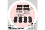Klocki hamulcowe - komplet ZIMMERMANN 24098.170.3 ZIMMERMANN 24098.170.3