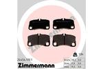 Klocki hamulcowe - komplet ZIMMERMANN 24454.170.1 ZIMMERMANN 24454.170.1