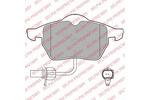 Klocki hamulcowe - komplet<br>DELPHI<br>LP1672