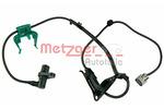 Czujnik prędkości obrotowej koła (ABS lub ESP) METZGER  0900330