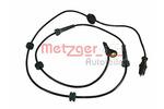 Czujnik prędkości obrotowej koła (ABS lub ESP) METZGER  0900660