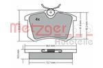 Klocki hamulcowe - komplet METZGER 1170001