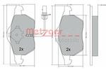 Klocki hamulcowe - komplet METZGER 1170020