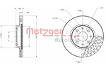 Tarcza hamulcowa METZGER 6110091