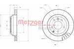 Tarcza hamulcowa METZGER 6110434