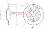 Tarcza hamulcowa METZGER 6110437 METZGER 6110437