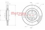 Tarcza hamulcowa METZGER 6110616 METZGER 6110616
