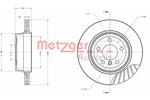 Tarcza hamulcowa METZGER 6110639