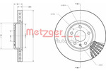 Tarcza hamulcowa METZGER 6110716