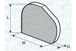Filtr kabinowy MAGNETI MARELLI  350203064230