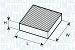 Filtr kabinowy MAGNETI MARELLI  350203064250