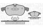 Klocki hamulcowe - komplet MAGNETI MARELLI  363916060162