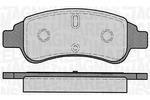 Klocki hamulcowe - komplet MAGNETI MARELLI  363916060170