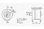 Alternator MAGNETI MARELLI  063324145010
