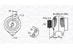 Alternator MAGNETI MARELLI  063321800010