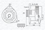 Alternator MAGNETI MARELLI  063321346010