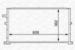 Chłodnica klimatyzacji - skraplacz MAGNETI MARELLI 350203607000 MAGNETI MARELLI 350203607000