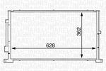 Chłodnica klimatyzacji - skraplacz MAGNETI MARELLI 350203608000 MAGNETI MARELLI 350203608000