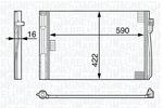 Chłodnica klimatyzacji - skraplacz MAGNETI MARELLI 350203704000 MAGNETI MARELLI 350203704000